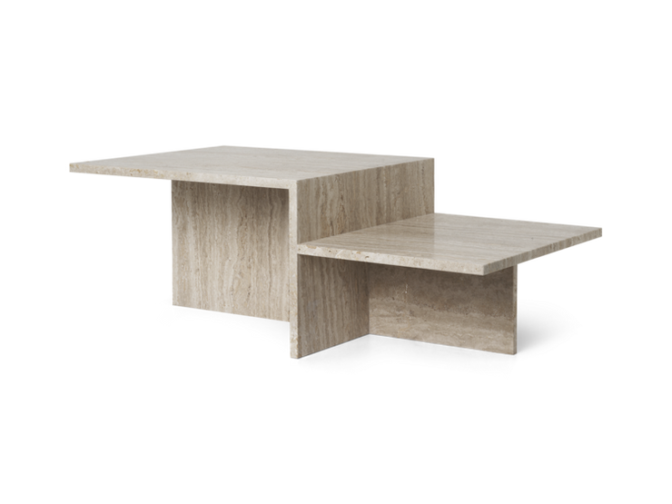 Distinct Coffee Table in Travertine by Ferm Living