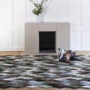 Mascarade Graphite Rug  design by Christian Lacroix for Designers Guild