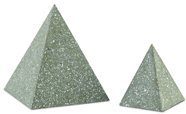Abalone Small Concrete Pyramid design by Currey & Company