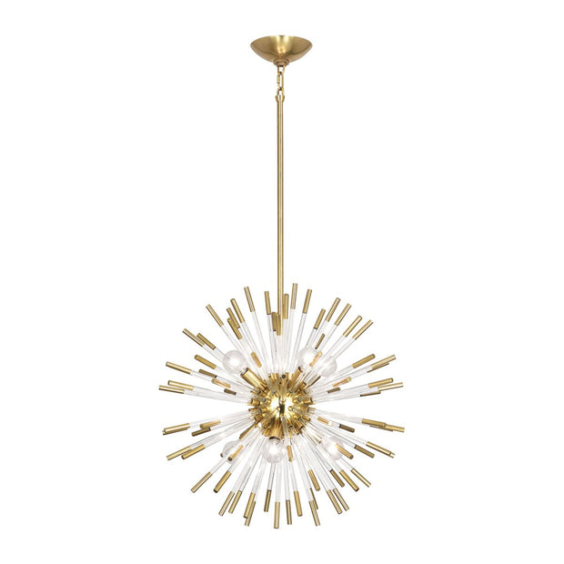 Andromeda Pendant in Modern Brass Finish w/ Clear Acrylic Accents design by Robert Abbey