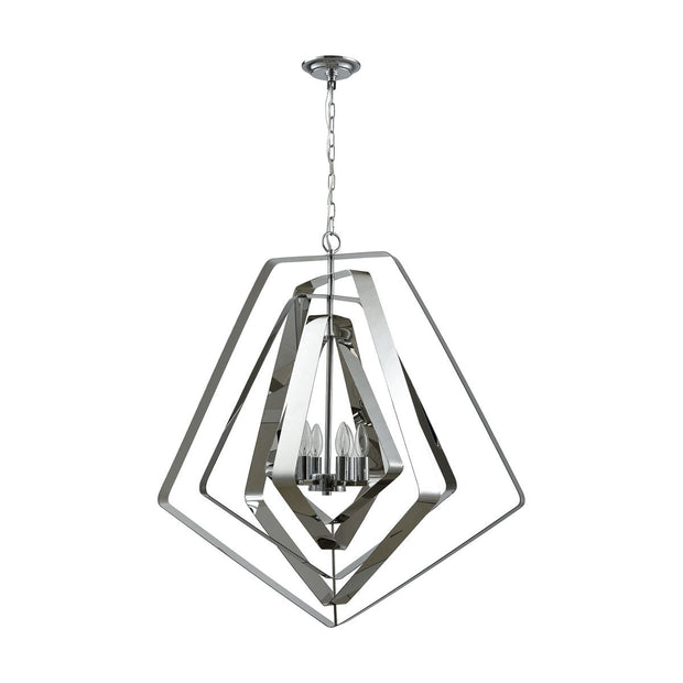 Anguluxe 6 Pendant in Polished Chrome