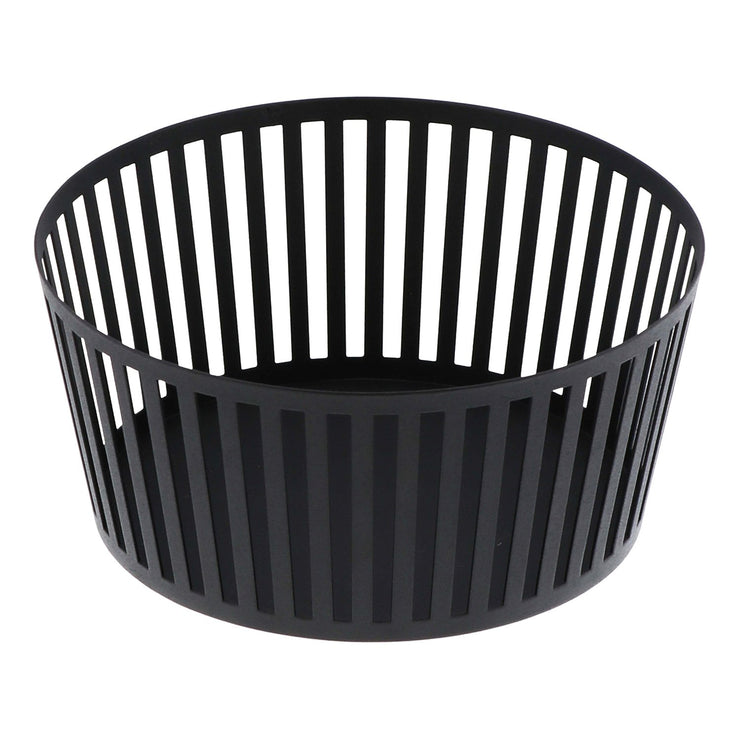 Tower Striped Steel Fruit Basket - Tall in Various Colors