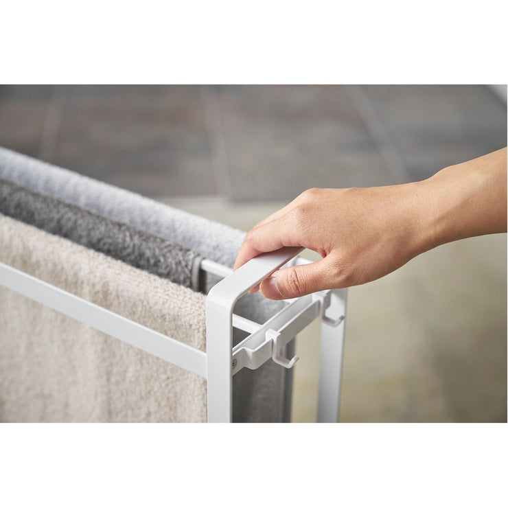 Tower Towel Rack and Bath Cart by Yamazaki