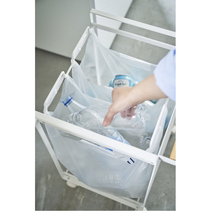 Tosca Concealed Rolling Trash Sorter by Yamazaki