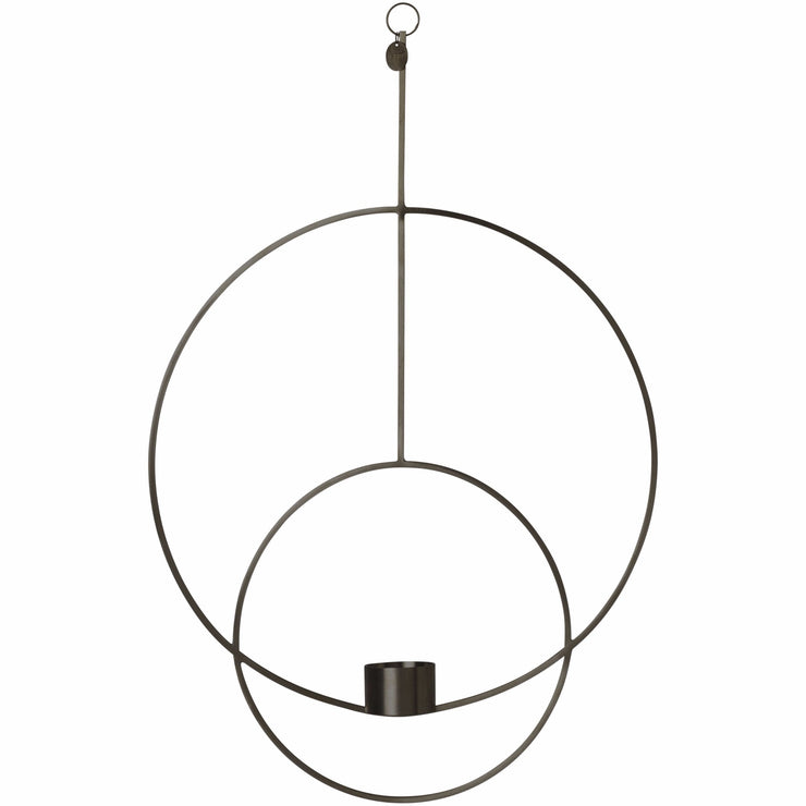 Circular Hanging Tealight Deco in Black by Ferm Living