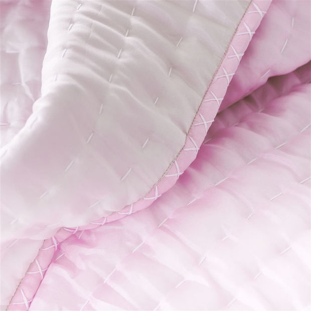 Chenevard Peony & Soft Pink Reversible Quilt & Pillow Cases design by Designers Guild