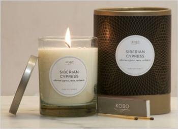 Siberian Cypress Candle design by Kobo Candles