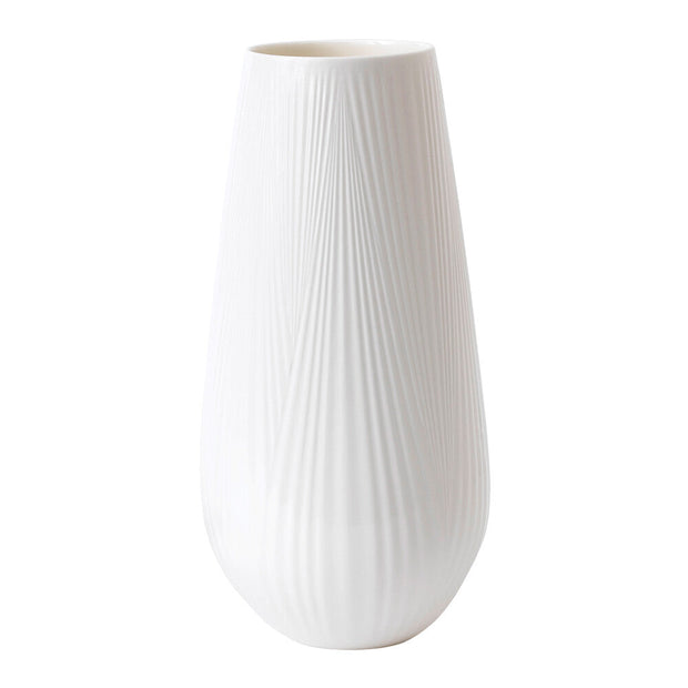 White Folia Tall Vase