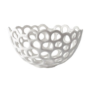Large Perforated Porcelain Bowl design by Lazy Susan