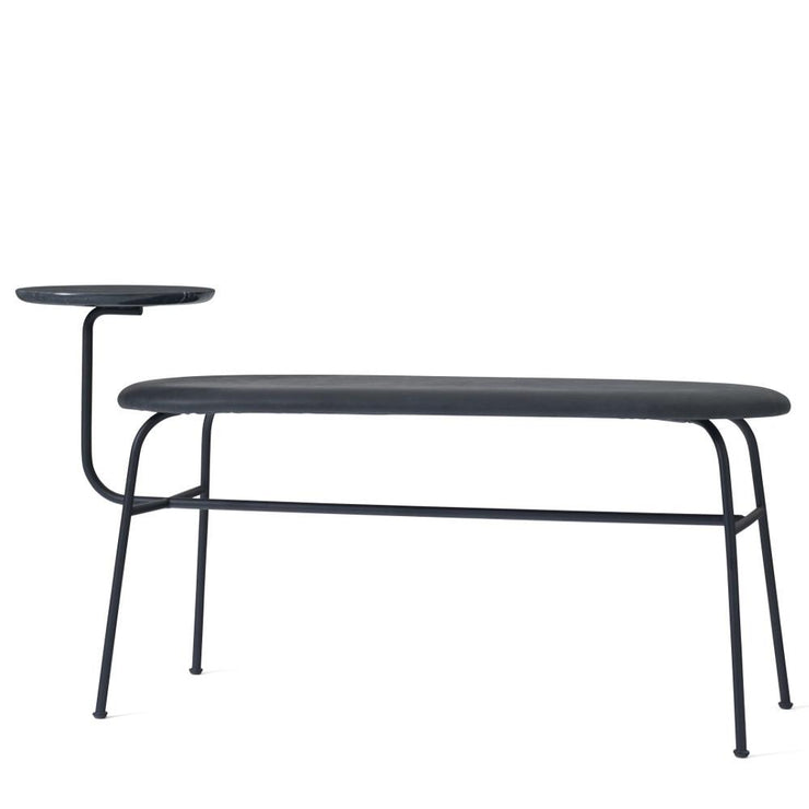 Afteroom Bench in Black w/ Black Dunes Leather design by Menu