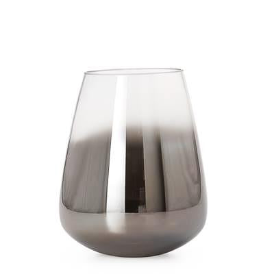 Smoke Mirror Cone Vase / Candle Holder in Short