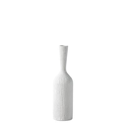 Zoro Carved Line Resin Floor Vase in Medium