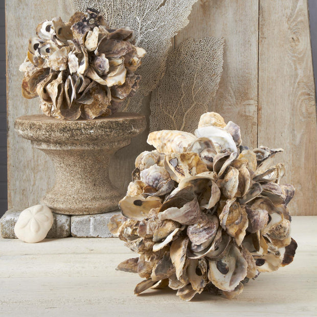 Oyster Shell Ball in 2 Assorted Sizes