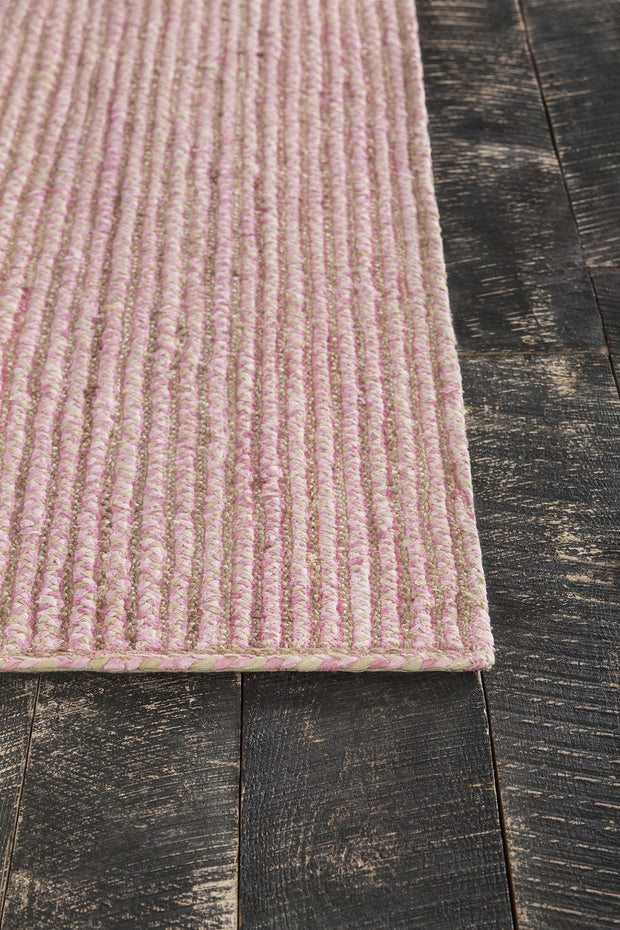 Alyssa Collection Hand-Woven Area Rug in Pink & Natural