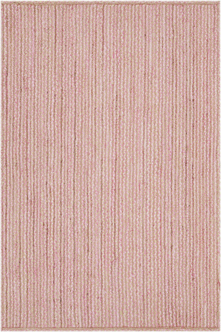 Alyssa Collection Hand Woven Area Rug In Pink Natural Designer Rug Com
