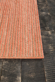 Alyssa Collection Hand-Woven Area Rug in Orange & Natural