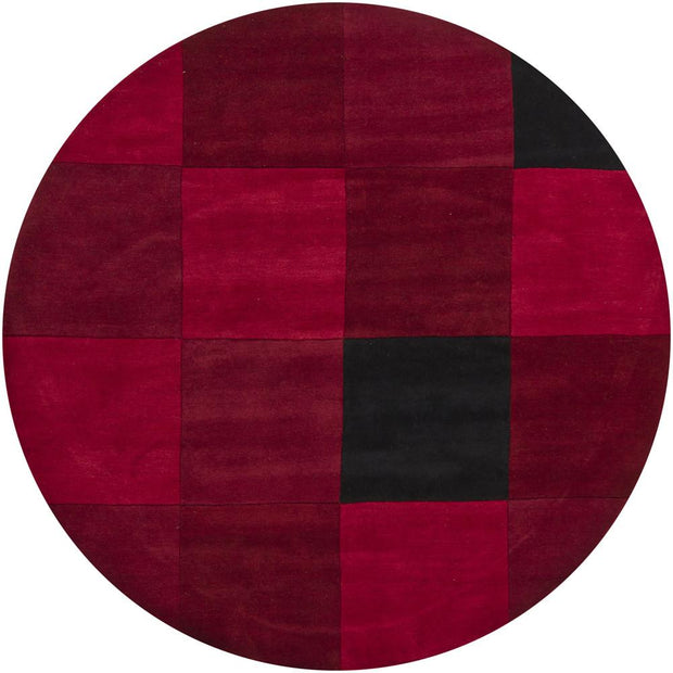 Antara Collection Hand-Tufted Area Rug in Red & Black