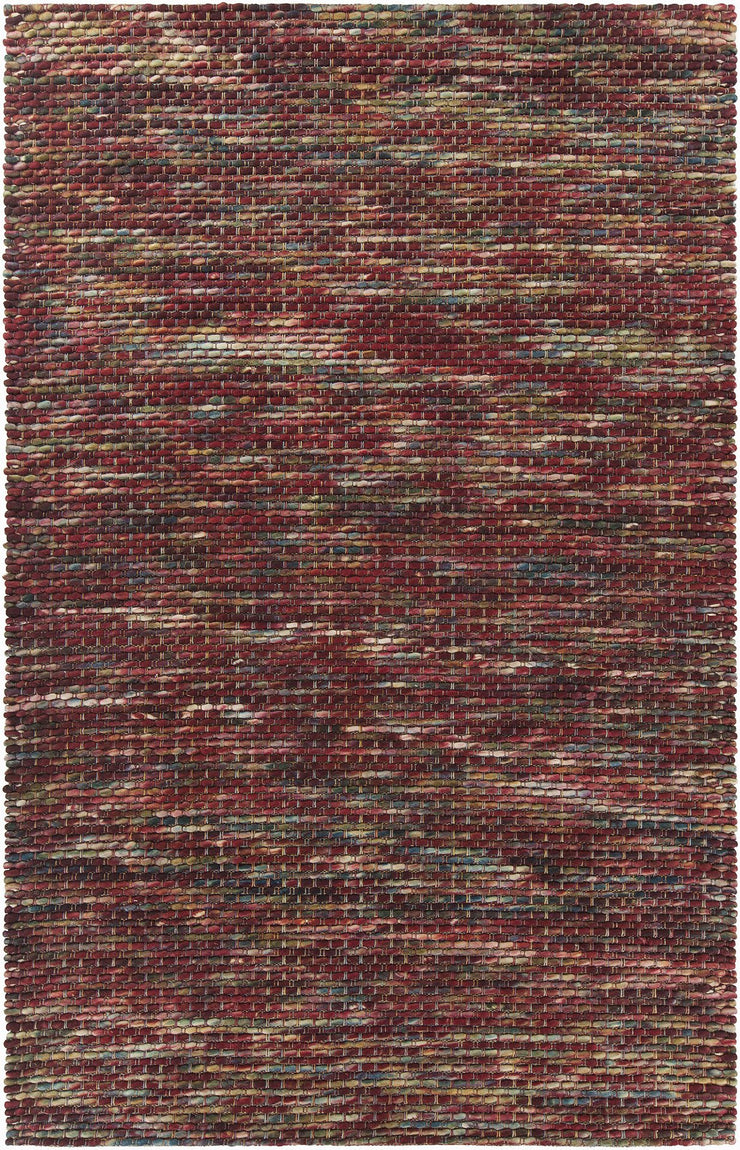 Argos Collection Hand-Woven Area Rug in Red & Multi Color