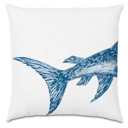 Swordfish Tail Hand-Painted Designer Pillow design by Studio 773