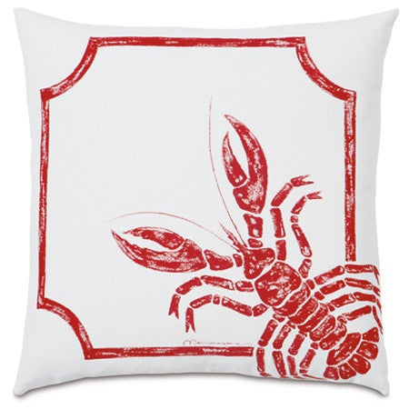 Rock Lobster Hand-Painted Designer Pillow design by Studio 773