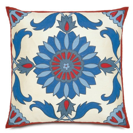 Islamic Tile Work Hand-Painted Designer Pillow design by Studio 773