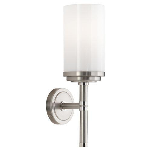 Halo Sconce in Nickel by Robert Abbey