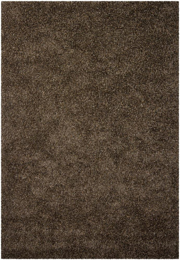 Barun Collection Hand-Woven Area Rug in Brown, Ivory, & Gold
