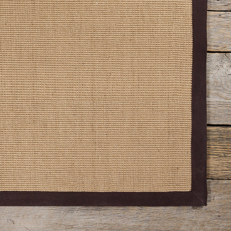 Bay Collection Hand-Woven Area Rug in Tan & Brown
