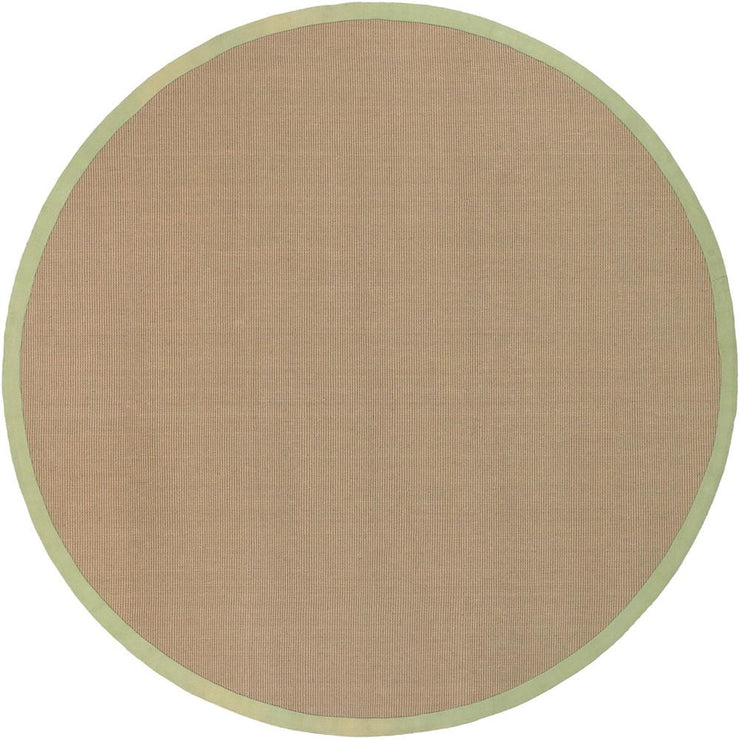 Bay Collection Hand-Woven Area Rug in Tan & Green