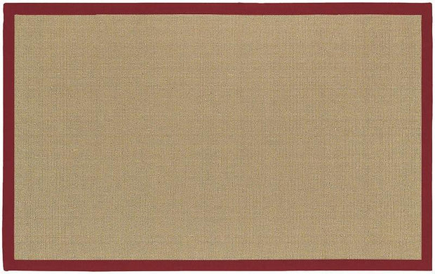 Bay Area Rug in Beige with Red Trim design by Chandra rugs
