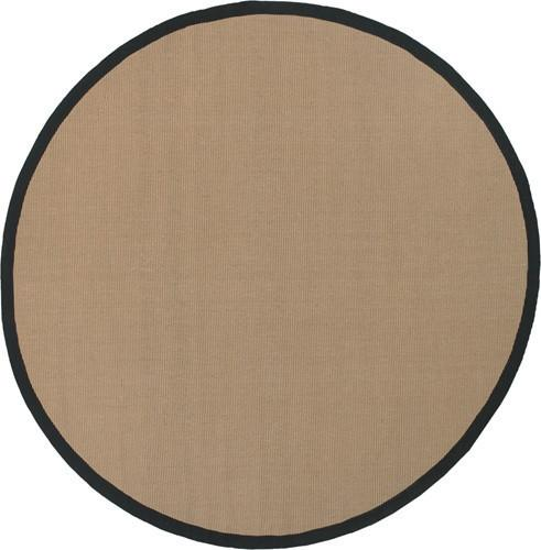 Bay Area Rug in Beige with Black Trim