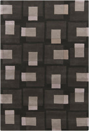 Bense Collection Hand-Tufted Area Rug, Black & Grey