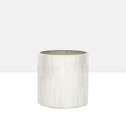 "Bamboo Glass Mosaic 5 x 5"" Drop Pot in Silver"