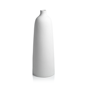 Bari All White Earthenware Vase by Panorama City