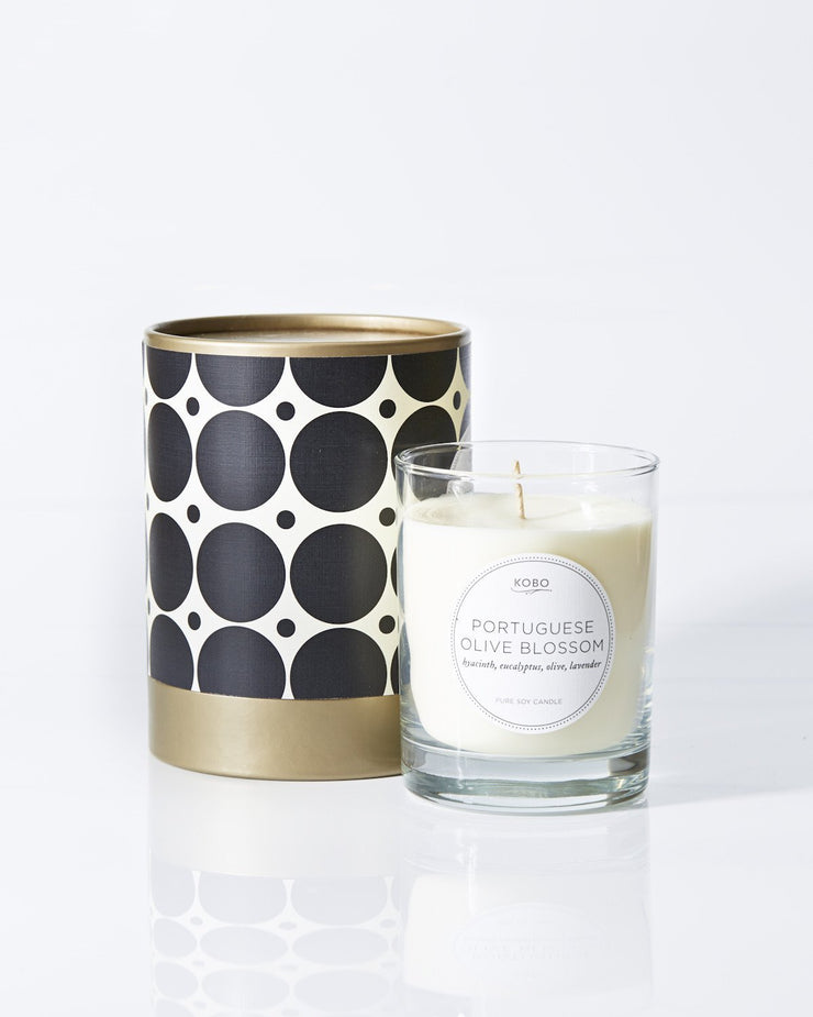 Portuguese Olive Blossom design by Kobo Candles