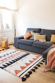 Azteca Natural Rug in Terracota design by Lorena Canals