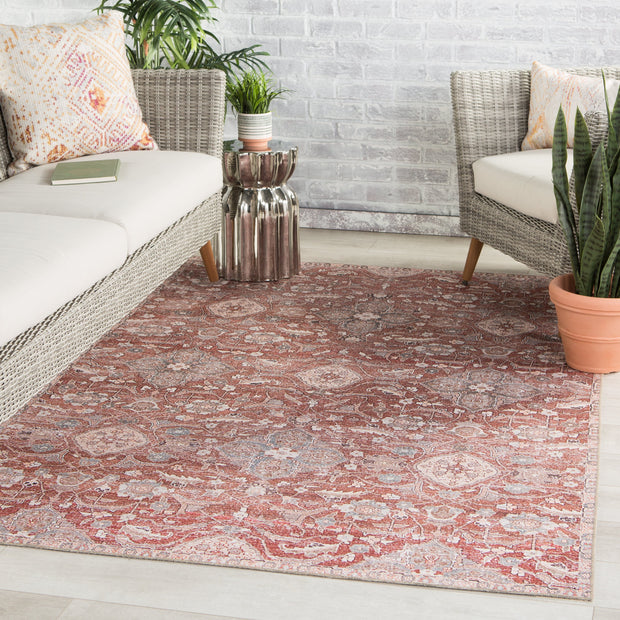 Aden Indoor/ Outdoor Oriental Red/ Gray Rug by Jaipur Living