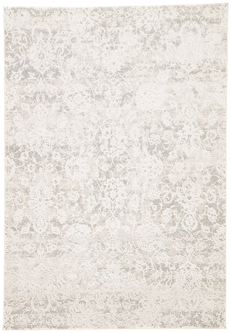 Alonsa Abstract Gray & White Area Rug