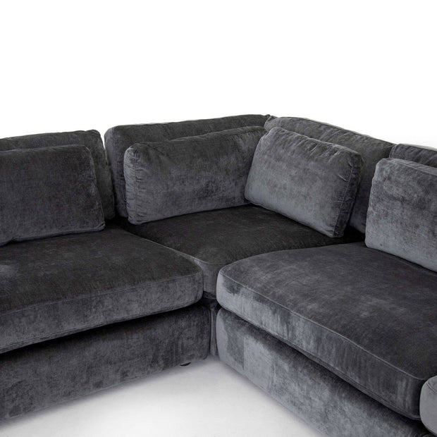 Bloor 4-Piece Sectional with Ottoman in Various Colors