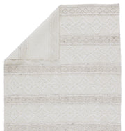 Adelie Indoor/Outdoor Trellis White & Light Grey Rug by Jaipur Living
