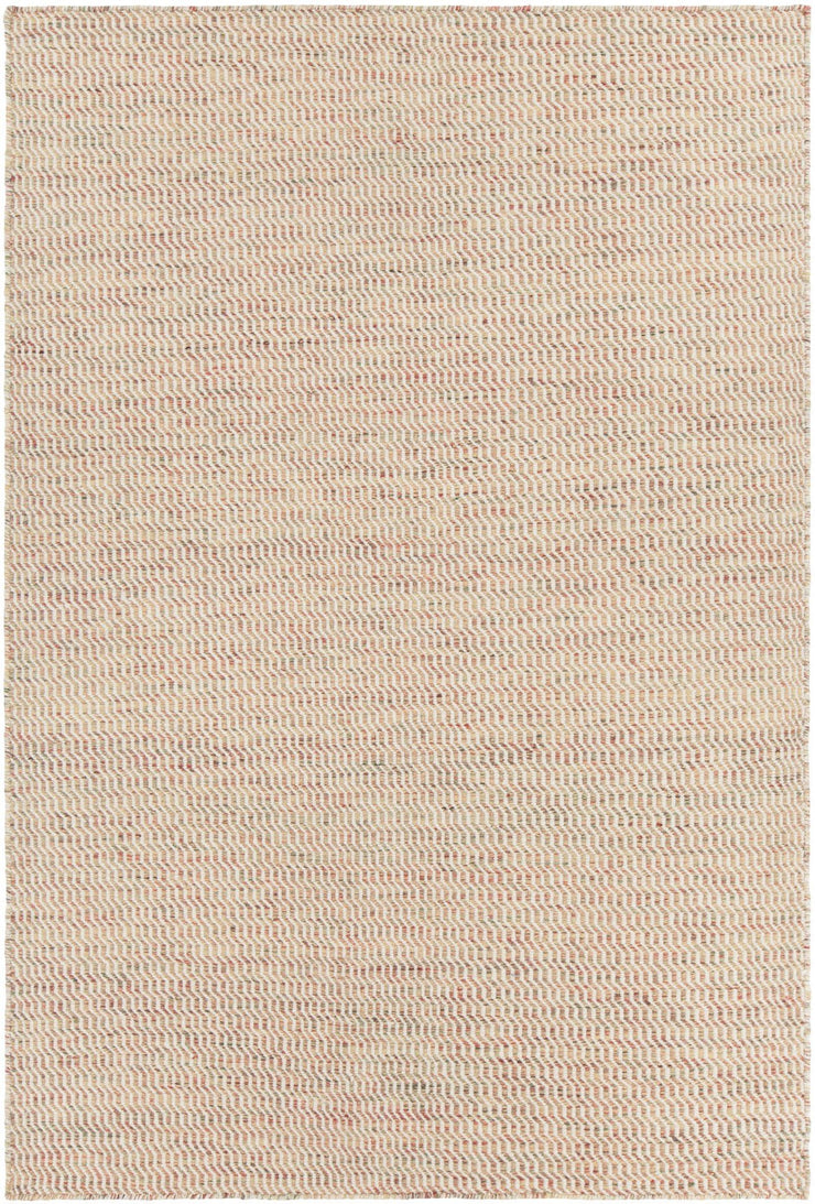 Crest Collection Hand-Woven Area Rug in Beige & Brown
