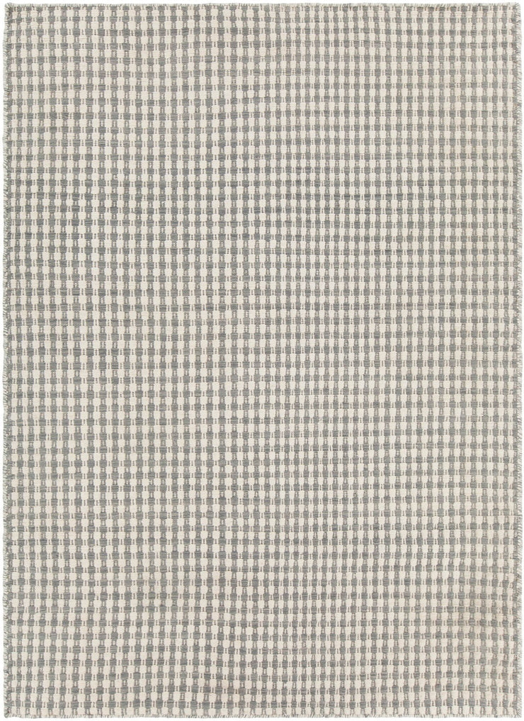 Crest Collection Hand-Woven Area Rug in Beige & Grey