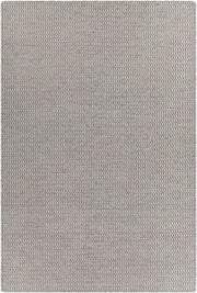 Crest Collection Hand-Woven Area Rug in Grey & White