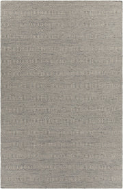 Crest Collection Hand-Woven Area Rug in Light Blue & Beige