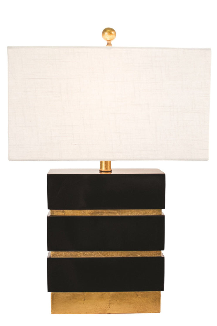 San Simeon Table Lamp in Gloss Black design by Couture Lamps