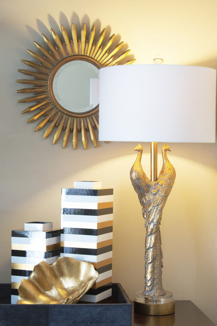 Golden Peacock Table Lamp design by Couture Lamps