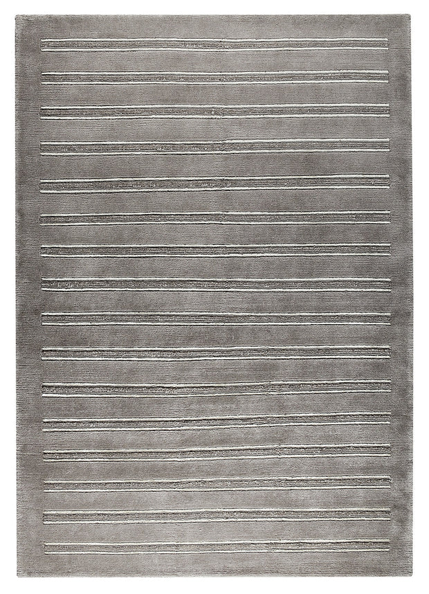 Chicago Collection Wool and Viscose Area Rug in Grey design by Mat the Basics