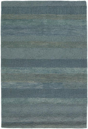 Dejon Collection Hand-Tufted Area Rug in Blue & Grey