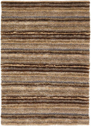 Delight Collection Hand-Woven Area Rug in Brown, Taupe, Ivory, & Gold