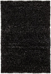Dior Collection Hand-Woven Area Rug in White & Black